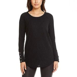 Chaser Long Sleeve Waffle Thermal Tunic Top